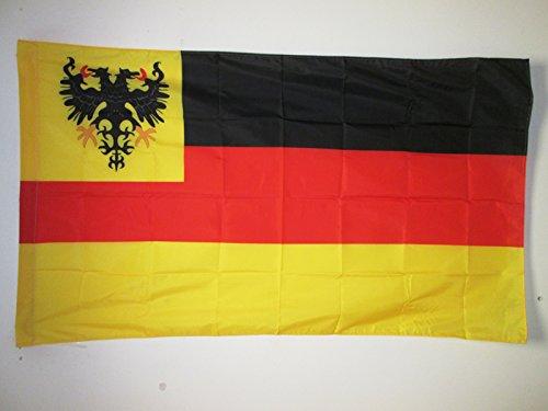 AZ FLAG Flagge Deutschland ALT 1848-1852 150x90cm - DEUTSCHE Fahne 90 x 150 cm Scheide für Mast - flaggen Top Qualität