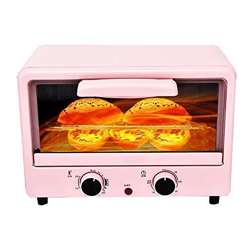 LQRYJDZ Mini Toaster, Elektro-Ofen Horizontal Kuchen Brotbackautomaten Pizza backen Kuchen 12 Liter Elektro-Backofen, Enthält Bake Pan, Broil-Rack (Color : Pink, Size : 36.9 x 21.4 x 29.6CM)