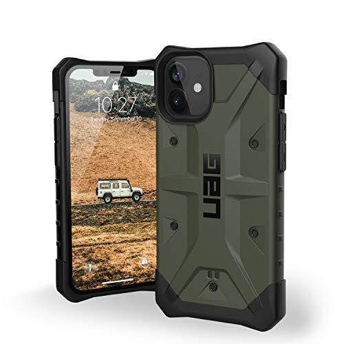 Urban Armor Gear Pathfinder Cubierta Apple iPhone 12 Mini (5,4' Pulgadas) Funda Protectora (Compatible con la Carga inalámbrica, Resistente a los choques, Parachoques Ultra Delgado) Olive