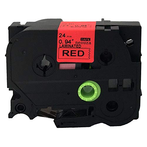 """NEOUZA Black on Red Label Tape Compatible for Brother Tz 451 Tze 451 1"""" P-Touch 26.2ft"""