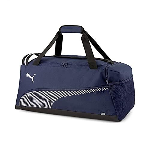 Puma 4063699953794 Fundamentals Sports Bag M Borsa, Peacoat/Puma White