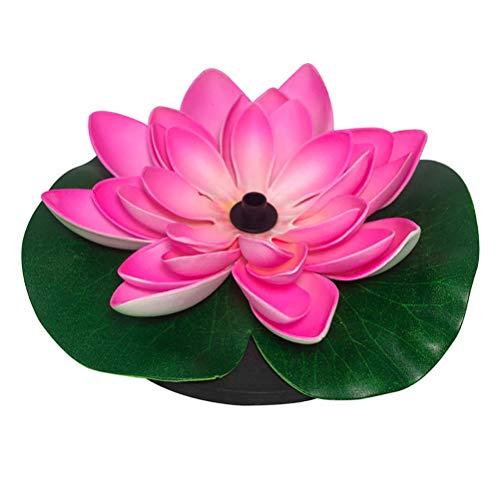 Lotus Solar Fountain, Bomba de Fuente de energía Solar de 2.5W para Estanque de jardín o Fuente de pecera