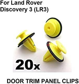 Fastener & Clip 20x for Land Rover Discovery 3 (LR3) Exterior Windscreen A-Pillar Trim Clips, oe#DYC 500020 / DZM 000070