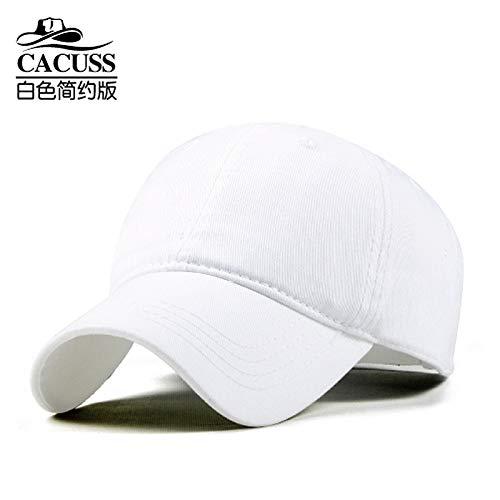 sdssup Baseballmütze Männer und Frauen Outdoor Hut Wandern Entenzunge Sommer Männer Paar Hut Sommer Weiß M (56-58 cm)