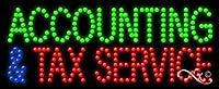 11x 27x 1インチ会計&税金サービスアニメーション点滅LEDウィンドウサイン