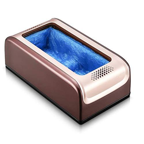 ZSQDSZ Dispensador automático de la Cubierta para Zapatos, máquina con Cubierta de Zapatos Plateada y Reutilizables Cubiertas de Zapatos Desechables de PE, Cubierta higiénica desechable para el hogar