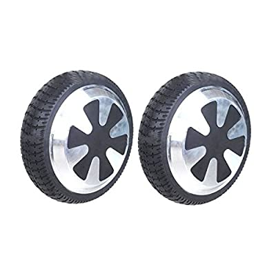 "HoverFixer® 350W Power Motor Wheel & Tire - Two Set for both sides- 6.5"" inch, Fix your not working Motor - Replacement Part for Electric Self Balance Scooter Easy DIY Repair"