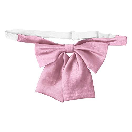 ranrann Damen JK Uniform Fliege Halsband Schleife Klassische Bowtie Japanische Mädchen Schuluniform Cosplay Kostüm Zubehör Einheitlich für Party Fasching Rosa OneSize