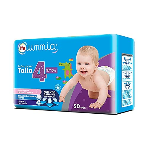 Ifa Unnia Pañal Talla 4 Bebés 9-15 kg. - 50 uds.