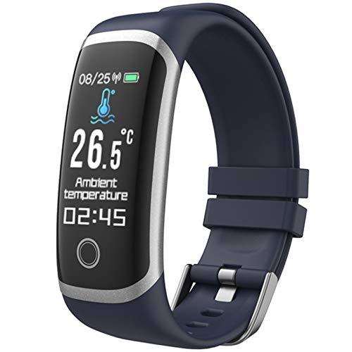 QKA Reloj Deportivo para Adultos, Multifunción, Pulsera De Medición De Temperatura, Monitor De Salud, Monitoreo Inmunológico, Reloj Inteligente, para Android iOS,A
