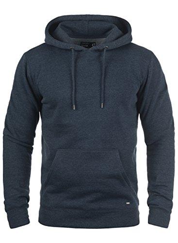 !Solid Bert Herren Kapuzenpullover Hoodie Pullover Mit Kapuze Und Fleece-Innenseite, Größe:XL, Farbe:Insignia Blue Melange (8991)