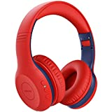 Mpow CH6 Plus Kids Bluetooth Headphones with Microphone Over Ear for Teens up to 15 Hours Playtime, Bluetooth 5.0 Wireless Headsets with HD Stereo Sound, for School, Travel, Cellphones, Tablets, PC