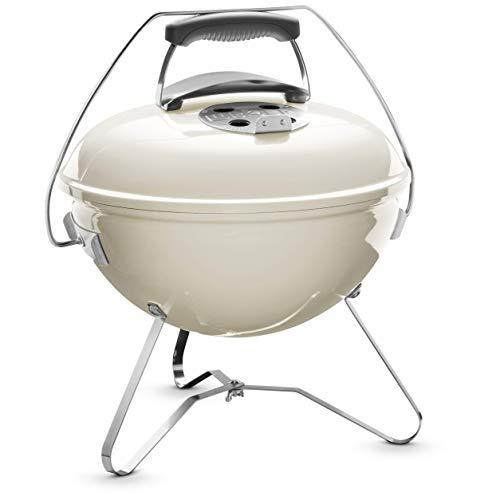Weber 1125004 Smokey Joe Premium Barbecue à Charbon Blanc Ivoire 37 cm