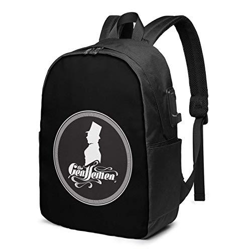 IUBBKI The Gentl-E-Men 17 Inch Laptop Backpack For Men & Women,Travel/School Backpack With Usb Charging Port & Headphone Interface