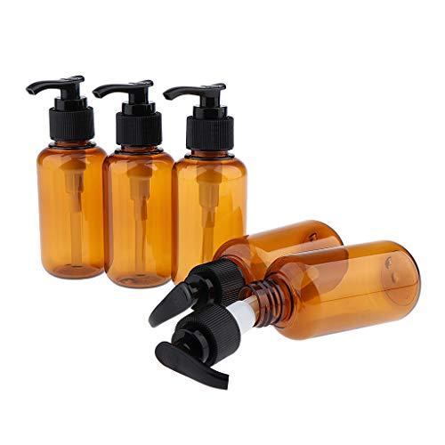 Sharplace 5pcs Vider La Pompe Shampooing Lotions Bouteilles De Gel De Lavage Du Corps Rechargeable - 100 ml