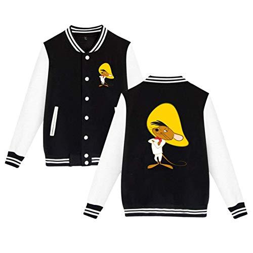 Oyshriola Unisex Speedy Gonzales warmth Baseball Uniform Jacket Hoodie coat for Men/Women/boys/teen/girls Medium