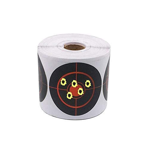 Yiyer Pegatinas de Objetivo de Salpicadura de 3 Pulgadas Objetivos Reactivos Adhesivos para Disparar con Impacto Amarillo Fluorescente Objetivos de Papel para Tiro con Arco Caza