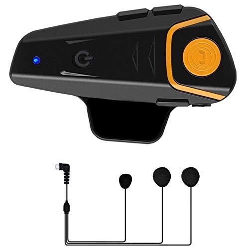 MLX BT-S2 Pro Casco De Motocicleta Intercom Motorbike Inalámbrico Bluetooth Auriculares Impermeable BT Interphone con FM LQLYEM (Color
