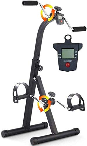 X&Z-XAOY Ejercitador De Pedal Plegable Bicicleta De Fitness Entrenador De Piernas con Monitor LCD Ajuste De Altura De 6 Velocidades Ejercicio De Recuperación