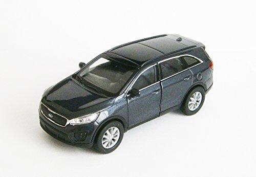 Kia Sorento Modelo Auto metal modelo coche juguete Auto 3de automóviles de colores Welly 40, gris-metálico