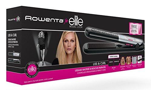 Rowenta Liss y Curl SF4522 Plancha de pelo, alisa, ondula y riza, con...