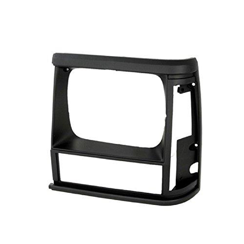 CarPartsDepot 1991-1996 Compatible With JEEP CHEROKEE LEFT HEADLAMP DOOR HEAD LIGHT BEZEL DRIVER ASSEMBLY