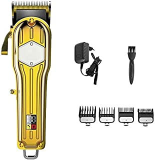 Detailed Professional Hair Clippers Cordless Haircut Household Tools Electric Clippers, Men's Electric Clippers Cordless Gold, Men's Electric Clippers Rechargeable Cordless Professional Hair Durab