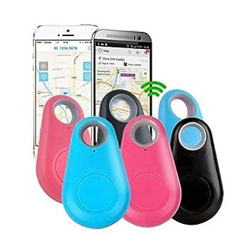 Glomab 6 Pcs Smart Key Finder Locators Goutte d'eau Anti Perdu Bluetooth, Animaux Clé Portefeuille Voiture Enfant Sac Téléphone Alarme