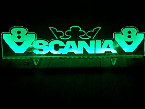 24?V LED Light Neon plaque pour Trucker Camion Vert illuminant Sign Table Couronne Cabine D?coration Accessoires grav? au laser 24?V/5?W