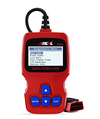 ANCEL AD310 Classic Enhanced Universal OBD II Scanner Car Engine Fault Code Reader CAN Diagnostic Scan Tool - Red