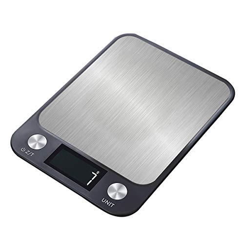 LKXHarleya BáSculas Digitales De Cocina, BáScula ElectróNica De Alimentos para Cocinar Y Hornear, BáSculas De Pesaje con Pantalla De RetroiluminacióN LCD, Alta PrecisióN, 10 Kg / 22 LB