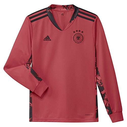 adidas Dfb GK JSY Y T-Shirt A Manica Lunga, Bambino, Glory Red, 910Y