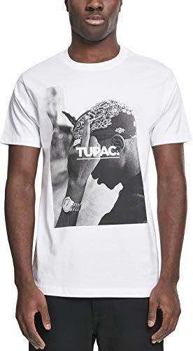 Mister Tee Herren T Shirt Kurzarm 2Pac F*ck The World, White, L, MT315-00220-0042