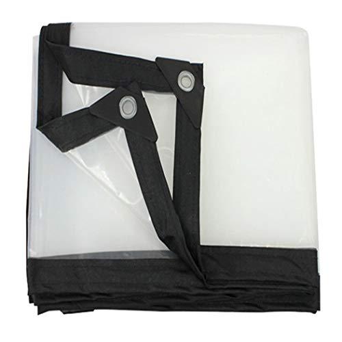 HSBAIS Bache de Protection Transparente Exterieur - Neige et UV anti-pluie, Bâches étanches avec oeillets,4x5m/13.2x16.5ft