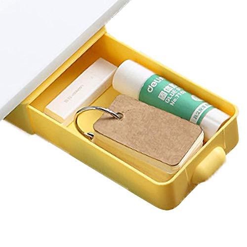 Cajon Oculto Debajo Del Escritorio Amarillo Cajon Debajo Escritorio - 20x9.2x3.5cm - Cajón Escritorio para La Escuela De La Oficina De La Cocina Casera