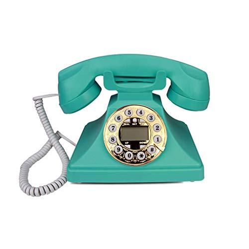 Vast, Draadloze Telefoon Met, Hinder Call Blocker En Digitaal Antwoordapparaat, Ouderwetse Retro Kantoor Telefoon Vaste Lijn Creatieve Thuis Bedraad Beller-ID Vaste, Groen (Color : A)