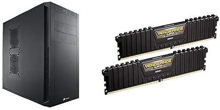 CORSAIR CARBIDE 200R Compact ATX Case, CC-9011023-WW and Corsair Vengeance LPX 16GB (2x8GB) DDR4 DRAM 3000MHz C15 Desktop Memory Kit - Black