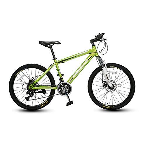 Bicicleta,Bicicleta de montaña,Bicicleta de choque de 21 velocidades,Con marco de acero con alto contenido de carbono,Freno de disco doble mecánico,Para adultos y adolescentes, no es fácil de def