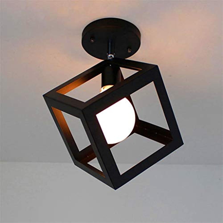 Deckenleuchten, American Village Square Deckenleuchte Creative Bar Wohnzimmer Loft Bügeleisen leuchten E27 Lampenfassung Einfache Reinigung Deckenleuchte (Farbe  2)