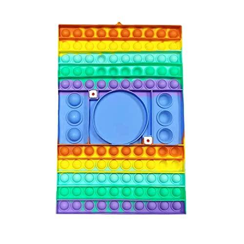 Juguete de gran tamaño Pop Sensory Fidget Juguetes Tablero de Ajedrez Dual Player Push Bubble Sensory Toy Release Stress Anti-Anxiety Herramientas para padres e hijos Amigos Adultos