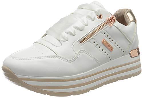 Dockers by Gerli Damen 44CA207-610592 Sneaker, Weiss/Rosegold, 40 EU
