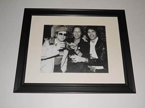 Framed Freddie Mercury, Elton John, Peter Straker at a Party 1978 (Queen) Picture 14'x17'