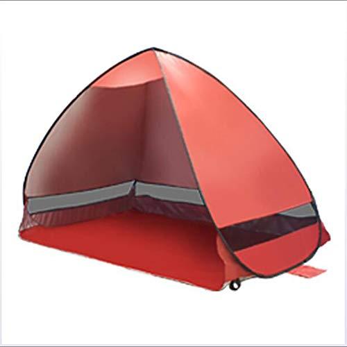 3-persoons schermtent Familietent Buiten lichtgewicht Winddicht UV-bestendig Enkellaags automatische campingtent 1000-1500 mm voor vissen Strand Kamperen/wandelen Bekleding Teryleen 200 * 120 * 130