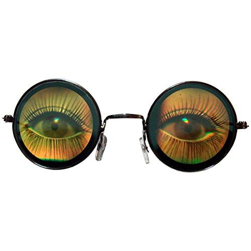 Hologrammbrille Augen Brille 3D Augenbrille Funbrille große Augen Komplettbrille