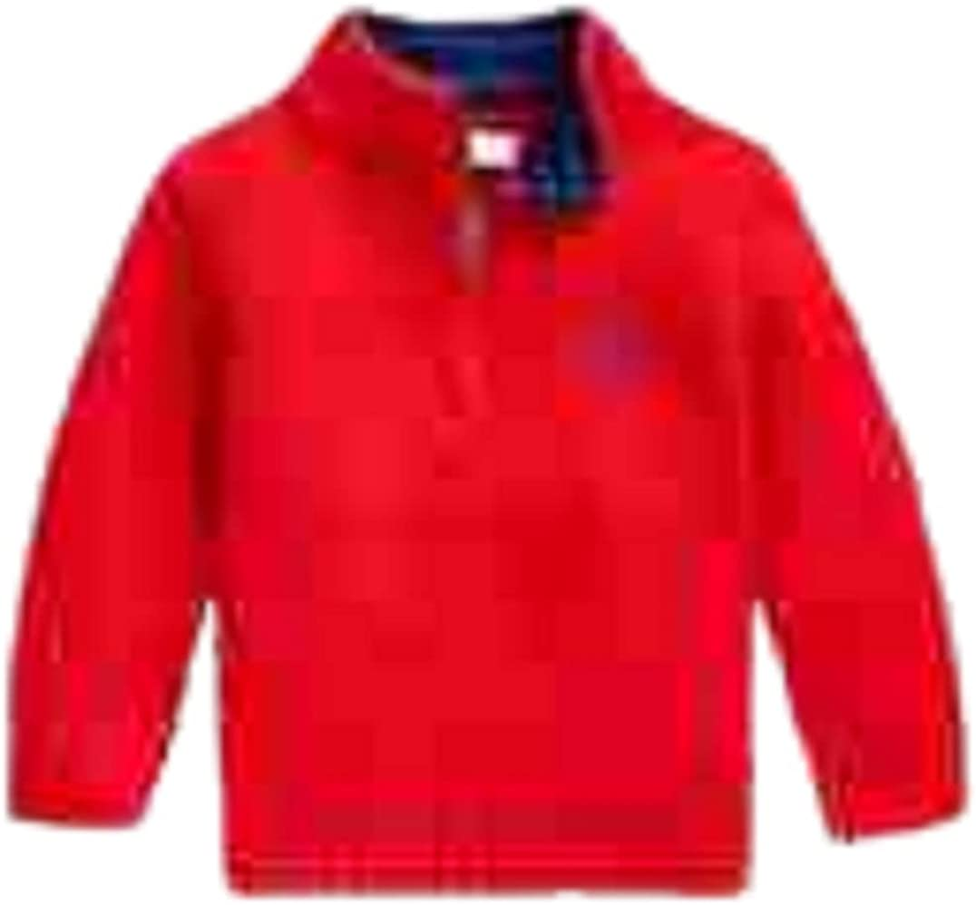 Ralph Lauren RED Boy's Combed Cotton Knit Sweater, US 6