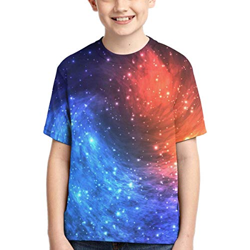 XCNGG Niños Tops Camisetas Youth Short Sleeve T-Shirts Astronomical Signs Kids Casual Graphics Tees