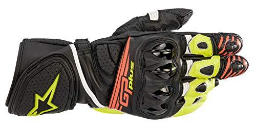 Guantes de Moto Alpinestars GP Plus R V2 Gloves Black Yellow Fluo Red Fluo, Black/Yellow/Fluo/Red/Fluo, XXL