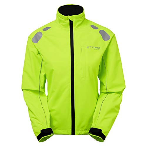 Ettore Damen Radsportjacke wasserdicht atmungsaktiv High-Vis - Gelb - Night Eagle - 16