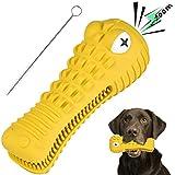 BASEIN Hundespielzeug, Kauspielzeug für Aggressive Kauer, Hundezahnpflegespielzeug, verwendet für Hunde, Welpen, Zahnpflege, Kauspielzeug, effektive Zahnpflege, aus 100% Gummi