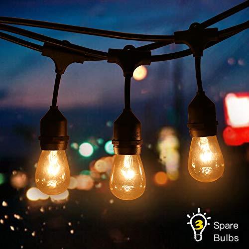 Tomshine Lichterkette außen String Light Kit E27 Sockelhalter 9 STÜCKE, Wolfram-Glühlampe 3 Ersatzlampen, IP65 Wasserbeständigkeit, für Geburtstagsfeier-Hochzeits-Funktion Open Bar Weihnachten Farm